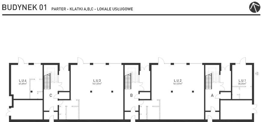 Projekt Wysoka - Budynek I - Lokale Usługowe