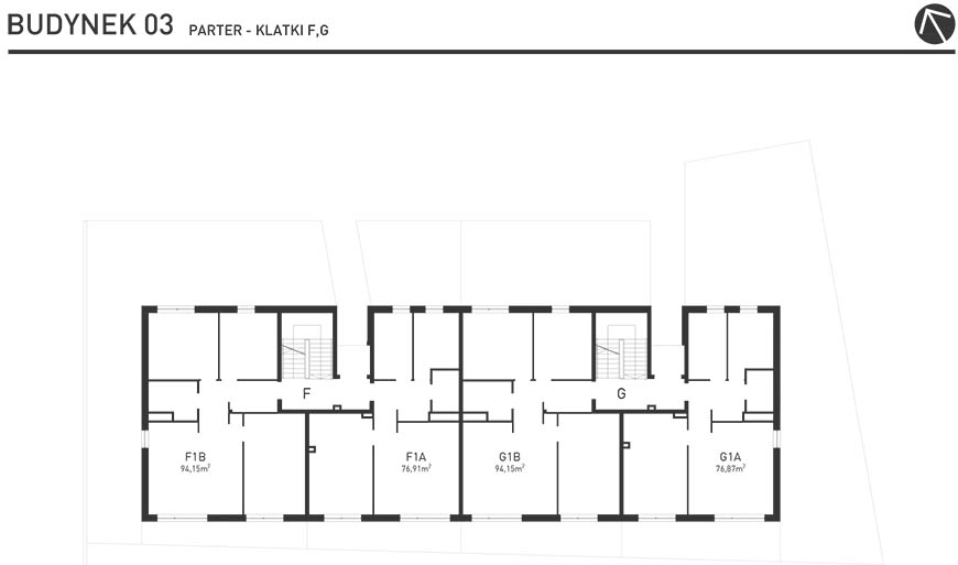 Projekt Wysoka - Budynek III - Parter