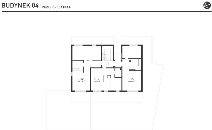 Projekt Wysoka - Budynek IV - Parter
