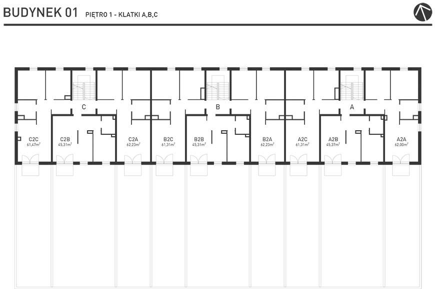 Projekt Wysoka - Budynek I - Piętro 1