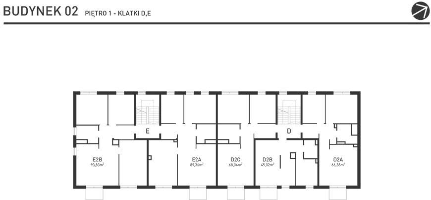 Projekt Wysoka - Budynek II - Piętro 1