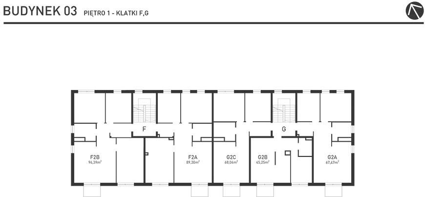 Projekt Wysoka - Budynek III - Piętro 1