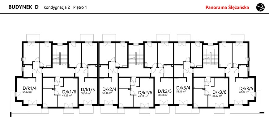 Panorama Ślężańska - Budynek D - Piętro 1