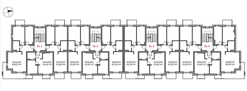 Słoneczny Zakątek - Budynek A - Piętro 1