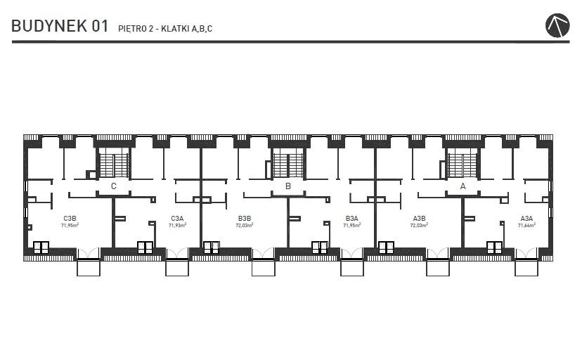 Projekt Wysoka - Budynek I - Piętro 2