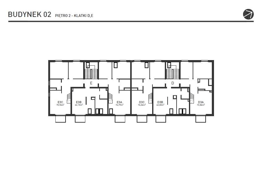 Projekt Wysoka - Budynek II - Piętro 2