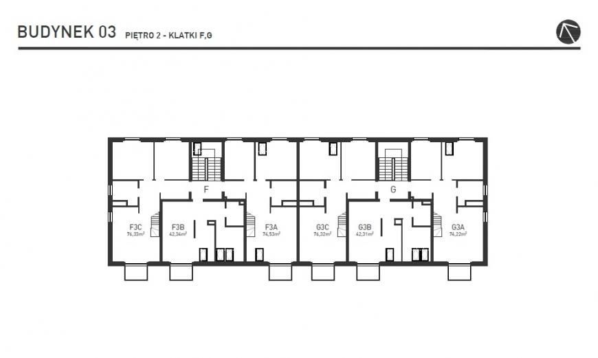 Projekt Wysoka - Budynek III - Piętro 2