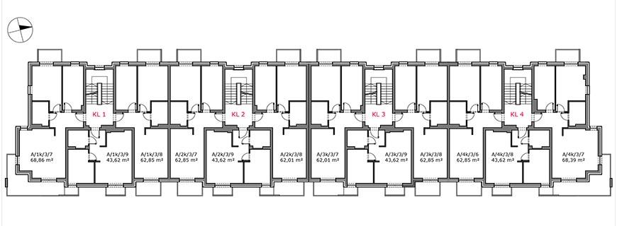 Słoneczny Zakątek - Budynek A - Piętro 2