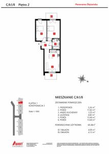 Mieszkanie nr. C/K1/8