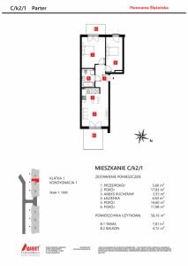 Mieszkanie nr. C/K2/1