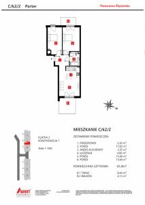 Mieszkanie nr. C/K2/2