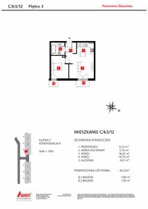 Mieszkanie nr. C/K3/12