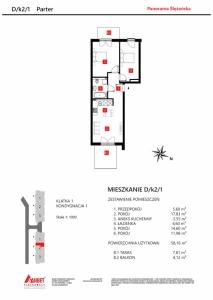 Mieszkanie nr. D/K2/1