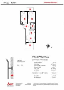 Mieszkanie nr. D/K2/2