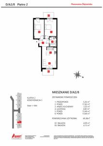 Mieszkanie nr. D/K2/8