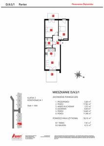 Mieszkanie nr. D/K3/1