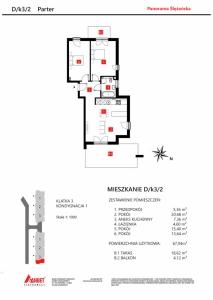 Mieszkanie nr. D/K3/2