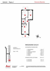 Mieszkanie nr. D/K3/4