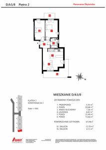 Mieszkanie nr. D/K3/8